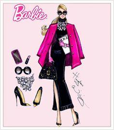 #Hayden Williams Fashion Illustrations #Barbie Style by Hayden Williams: 'Fashion Week Chic'