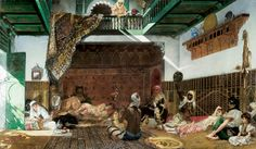 Intérieur de harem au Maroc, 1878 - Jean-Joseph Benjamin-Constant (French,1845-1902) Orientalism
