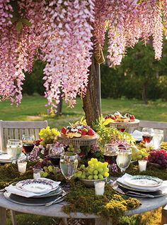 Garden Party Table Setting by @p. Allen Smith