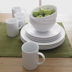 Aspen Dinnerware  | Crate and Barrel.  I'd like to mix and match my dinnerware.  Maybe large white plates or small white plates and white bowls.