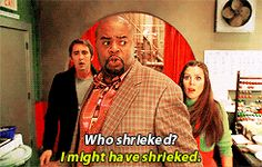 """Pushing Daisies """"Dim Sum Lose Some"""" (1x05) - Ned, Emerson and Chuck #funny #shriek - Lee Pace, Chi McBride, Anna Friel"""