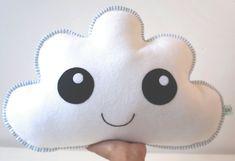 White Cloud Cloud Pillow Cushion Size Cloud Soft Cloud by LilyRazz
