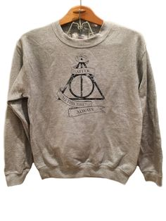 Always Deathly Hallows - Sweater Available sizes for this listing are Small, Medium, Large, Extra Large, 2XL, 3XL. All sizes are standard sizes. Crew Neck sweatshirt Image is sublimated onto the 50% c