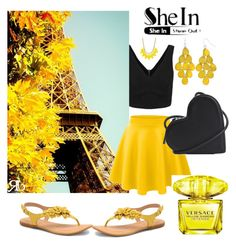 """""""She In"""" by emily-677 ❤ liked on Polyvore featuring Børn, LE3NO, Christopher Kane, INC International Concepts and Versace"""