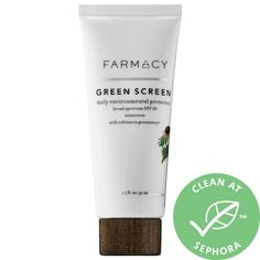 Shop Farmacy's Green Screen Daily Environmental Protector at Sephora. A mineral sunscreen that guards against environmental factors associated with skin aging.