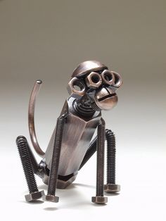 It is made by only Bolts and Nuts. There are more interesting objects. I like him.  I like him a lot!
