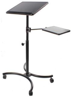 55d8b19eac15 Displays2go Adjustable Laptop Stand With 20 x 16-Inch Tilting Surface And  Second Extending Shelf