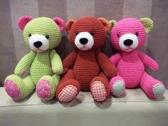 Crochet bear - no pattern Crochet Amigurumi, Crochet Teddy, Love Crochet, Knit Or Crochet, Crochet For Kids, Amigurumi Patterns, Crochet Dolls, Crochet Patterns, Easy Crochet Projects
