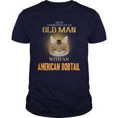 American Bobtail Power Of An Old Man With An American Bobtail Cat T-Shirts T-Shirts, Hoodies ==►► Click Order This Shirt NOW!