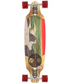 """Get a renewable ride with the Sector 9 Shoots 33.5"""" complete longboard with a 5 ply bamboo skate deck construction. This Sector 9 Shoots complete longboard comes fully assembled with a drop through construction that is just right for tight turns without r"""
