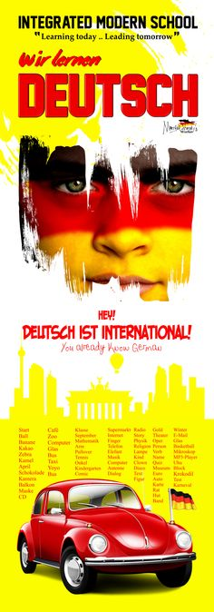A poster totally covers your class door, of course for German! Do you like it? Real Size: 215 X 90 Discover my world of German Designs: Mortada Shendy