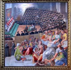The Council of Trent (Latin: Concilium Tridentinum), held between 1545 and 1563 in Trento (Trent) and Bologna, northern Italy, was one of the Roman Catholic Church's most important ecumenical councils. Prompted by the Protestant Reformation, it has been described as the embodiment of the Counter-Reformation.