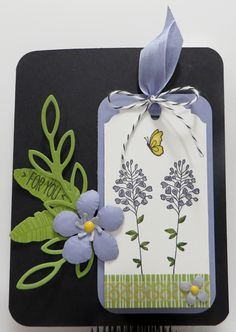 Stampin' Up Flowering Fields Botanicals Tag Card created by Lynn Gauthier using Flowering Fields, Botanical Blooms and You're So Lovely Stamp Sets, Botanical Builder Framelits and Rose Garden Thinlits Dies. Go to http://lynnslocker.blogspot.com/2016/01/stampin-up-flowering-fields-botanicals.html to see how this card was made.