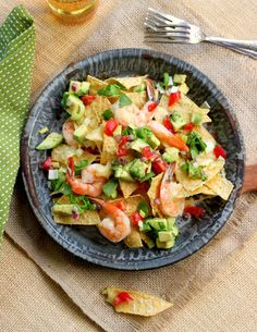 Nachos+with+Shrimp+and+Avocado+TomatoSalsa+-+Read+More+at+Relish.com