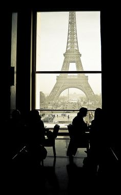 Coffee Time in Paris. What I would do to have coffee in Paris with this scene in front of me....