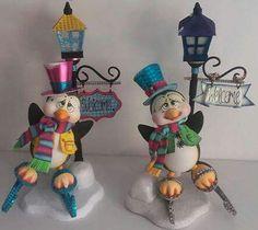 Pingüinos Felt Crafts, Diy And Crafts, Christmas Crafts, Christmas Decorations, Arts And Crafts, Christmas Ornaments, Clay Fairy House, Christmas Clay, Clay Fairies