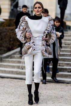 - Winter street style from Paris Haute Couture Week
