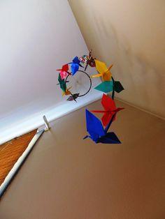 Multicolor Origami crane mobile/ Mobile by KawaiiSayuri on Etsy, $50.00