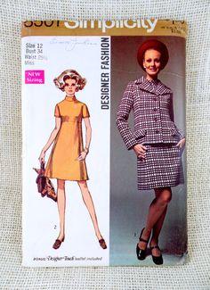 Vintage Simplicity 8501 1960s suit Dress by momandpopcultureshop