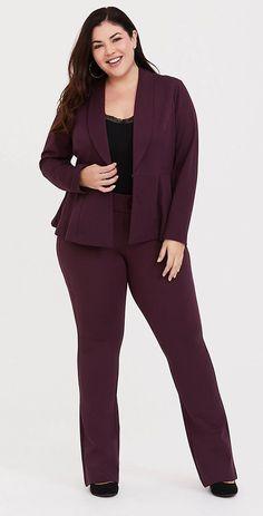 5f7c95fa47c Plus Size Peplum Blazer - Plus Size Work Wear - Plus Size Work Outfit - Plus