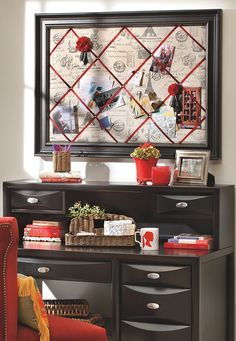 Valentine Paris Themed DIY Bulletin Board for your home office.