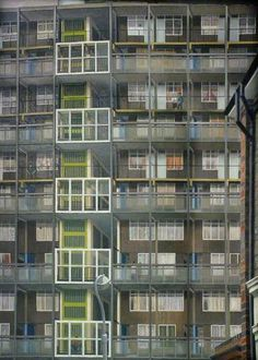 David Hepher - Camberwell Flats I, London (By Day) Urban Landscape, Landscape Art, Urban Painting, Building Drawing, Industrial Architecture, Urban Industrial, A Level Art, London Art, Art Uk