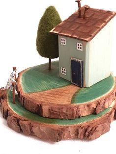 Holzhaus Häuschen zurückgefordert Holz recyceltem Holz