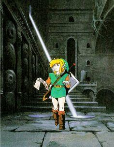 Original artwork for The Legend of Zelda: Link's Awakening (Game Boy, 1993)
