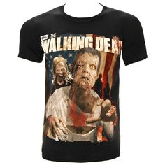 The Walking Dead Mens Zombie T Shirt - X-Large Black @ niftywarehouse.com #NiftyWarehouse #WalkingDead #Zombie #Zombies #TV