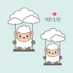 Eid Photos, Paw Patrol Decorations, Sheep Vector, Eid Stickers, Ramadan Crafts, Baby Swings, Printable Designs, Social Media Design, Flower Frame