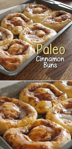 This Paleo Cinnamon Roll recipe is a sweet success! Traditional cinnamon rolls use yeast to make the dough rise, but not in this recipe. Eggs are used here to make the dough double in size.                                                                                                                                                                                 More