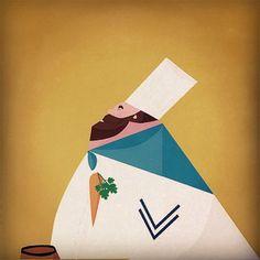 La red social fotográfica Instagram se ha convertido en una fuente incansable de inspiración para nosotros. Allí encontré el trabajo de Argijale, un ilustrador español con unos preciosos trabajos repartidos entre el diseño de personajes y las creaciones geométricas multicolor rozando el estampado.