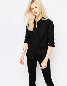 JDY - Lindsey - Chemise à manches longues - Noir - Bk1
