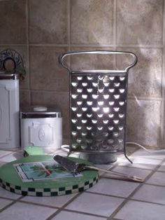 Kitchen Grater Lamp for Counter by toni