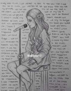 Dit is een tekening van het nummer wat ik in het boek heb geschreven en gezongen.