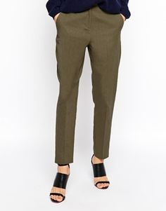 Enlarge ASOS Slim Cigarette Linen Trouser