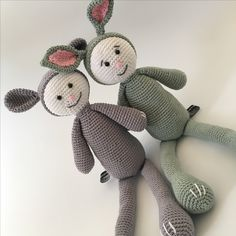 Knuffels Muffie & Snuffie - knuffel - gehaakt - veiligheidsoogjes - handgemaakt - baby - zwanger - kraamkado