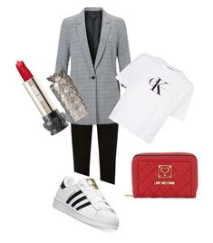 """""""monday monday"""" by tineheger on Polyvore featuring Miss Selfridge, Calvin Klein Jeans, adidas and Love Moschino"""