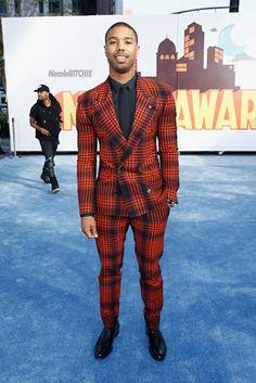 Michael B. Jordan attends the 2015 MTV Awards