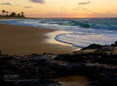 Sunrise at Sandy Beach Hawaii by thisismarysharp1  sunrise sea water beach travel sun coast ocean rock waves sand seascape hawaii oahu sandy beach hono