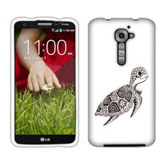 Cute Turtle Custom Snap-On Front and Back Hard Case Cover for LG Optimus G2