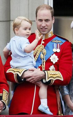 Prince George watches Kate Middleton and Prince William for Trooping the Colour | Daily Mail Online