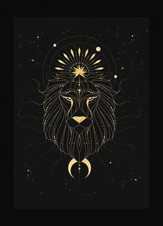 Zodiac Art, Leo Zodiac, Zodiac Signs, Signe Astro Lion, Art Zodiaque, Walpapers Cute, Zodiac Constellations, Moon Art, Art Drawings