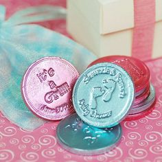 Personalized Baby Shower Chocolate Coins by Beau-coup