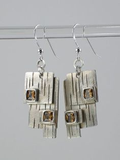 PMC squares earrings