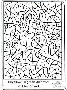 coloriage magique contes 3 couleurs pinterest numbers