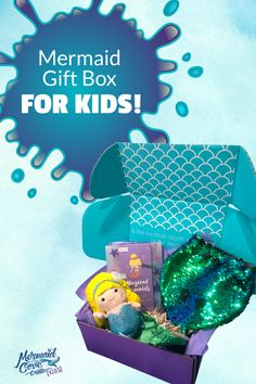 Our best selling subscription box Mermaid Cove Crate now has a special version JUST for kids! A mermaid subscription box for kids ages 5 to 8 ! This is the perfect gift for the little mermaid on your list! Mermaid Purse, Mermaid Outfit, Mermaid Jewelry, Mermaid Makeup, Mermaid Hair, Mermaid Kids, Mermaid Cove, The Little Mermaid, Subscription Boxes For Kids
