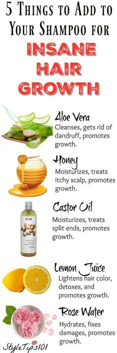Adding any one of these 5 ingredients to your shampoo bottle will ensure fast growing, healthy hair in no time! #hairremedies