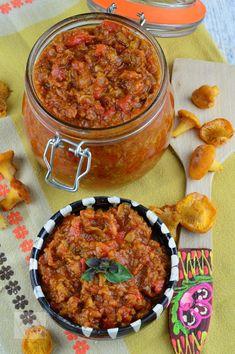 Zacusca de ciuperci - CAIETUL CU RETETE Lebanese Recipes, Lidl, Chana Masala, Canning, Ethnic Recipes, Food, Essen, Meals, Home Canning