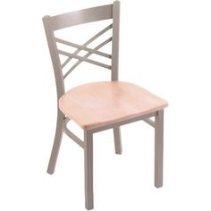 Holland Bar Stool Catalina Side Chair Base Finish: Bronze, Upholstery: Natural Maple